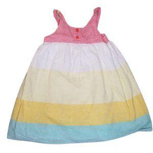 Gymboree | Linen Beach Colorblock Sleeveless Dress